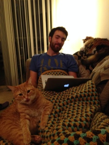 Felines are a key component of my writing process.