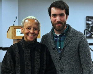 Nikki Giovanni spoke about everything from diversity, the Civil Rights movement and Emmet Till to Kurt Vonnegut, alcohol and Antarctica on Feb. 5 at UIndy. (Photo credit goes to Ayla Wilder)
