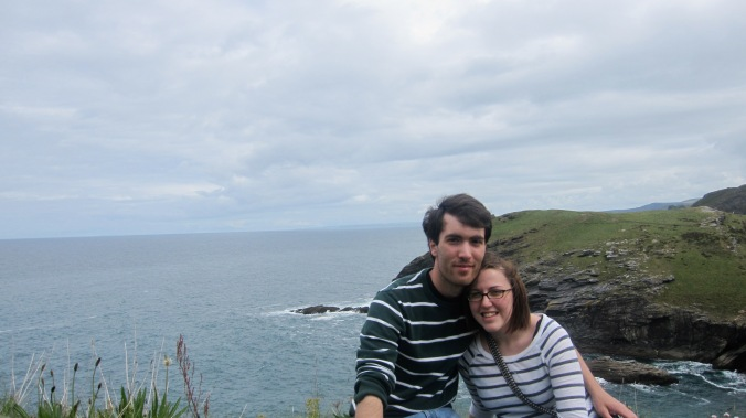 Here we are in Tintagel, England, on a spring term trip led by a favorite professor.