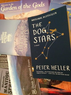 The Dog Stars, with some survival guides and literature.
