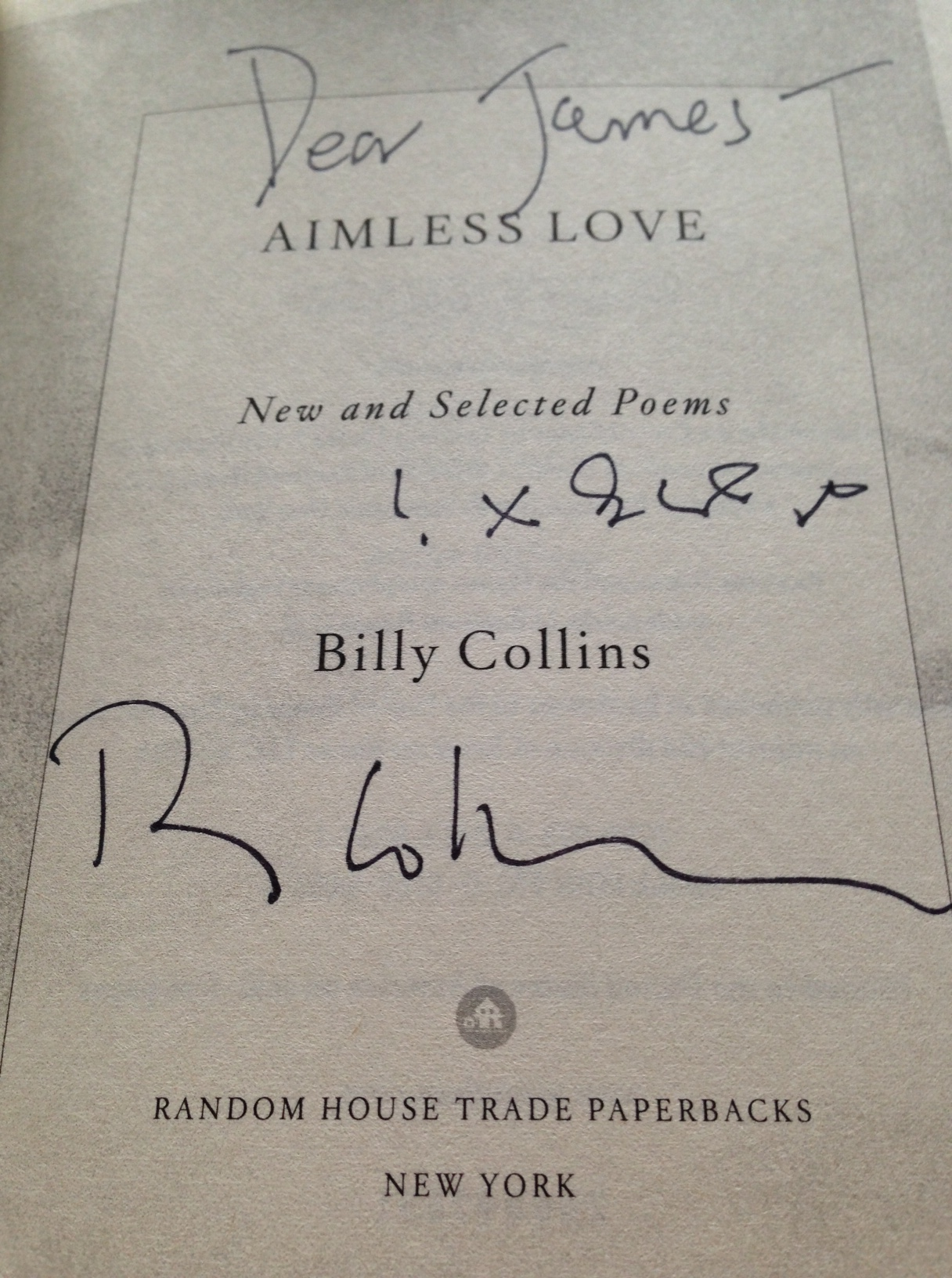 Billy Collins Love Poems 1