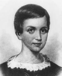 Young Emily Dickinson and her family, during financial hardship, moved briefly out of the Homestead into a home that overlooked a graveyard.
