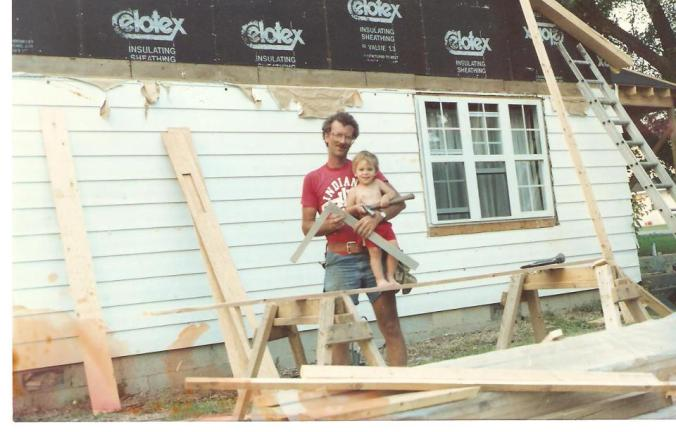 My dad puts me to work on the house I grew up in, circa 1989.