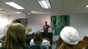 Students from that intro class invited me to read in November. I read my new short story: http://bit.ly/1I5ymaT