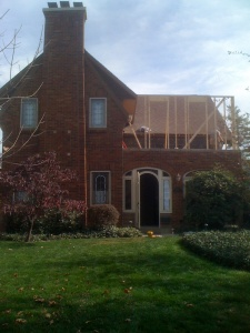 Framing an addition in Meridian-Kessler.